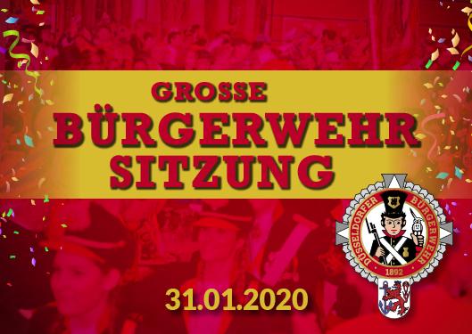 """Große """"Bürgerwehr-Sitzung"""" Poster"""